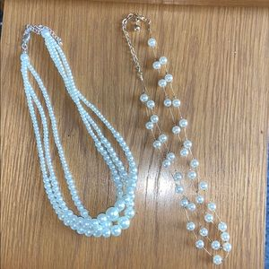 Two Faux Pearl Necklaces